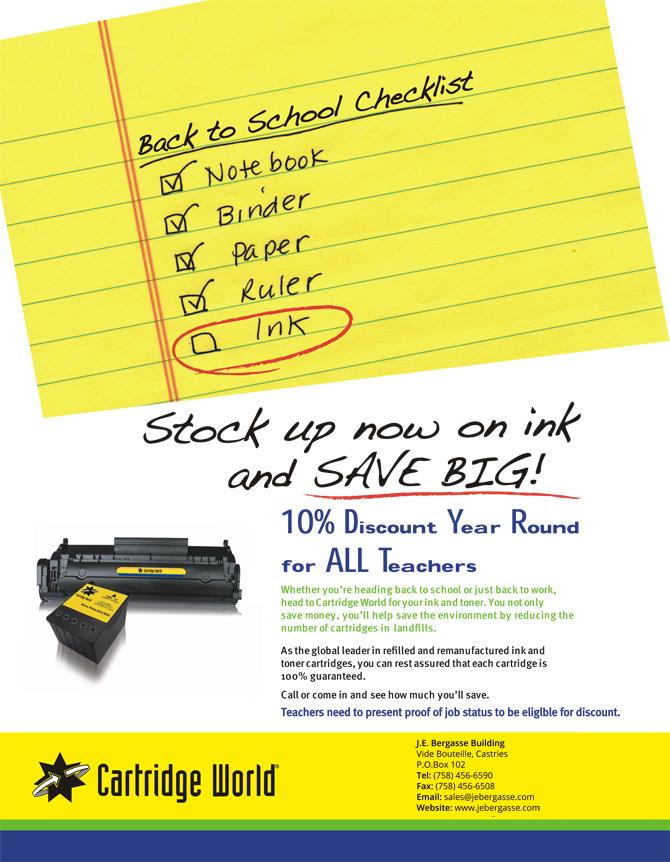Teachers Discount Flyer