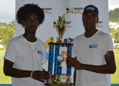 L-R-SALCC-Entrepot-Secondary-School-U19-Captain-holds-the-Championship-Trophy